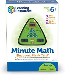 """Learning Resources LER6965 Minute Math Electronic Flash Card,5"""" x 5"""",Multi/None"""