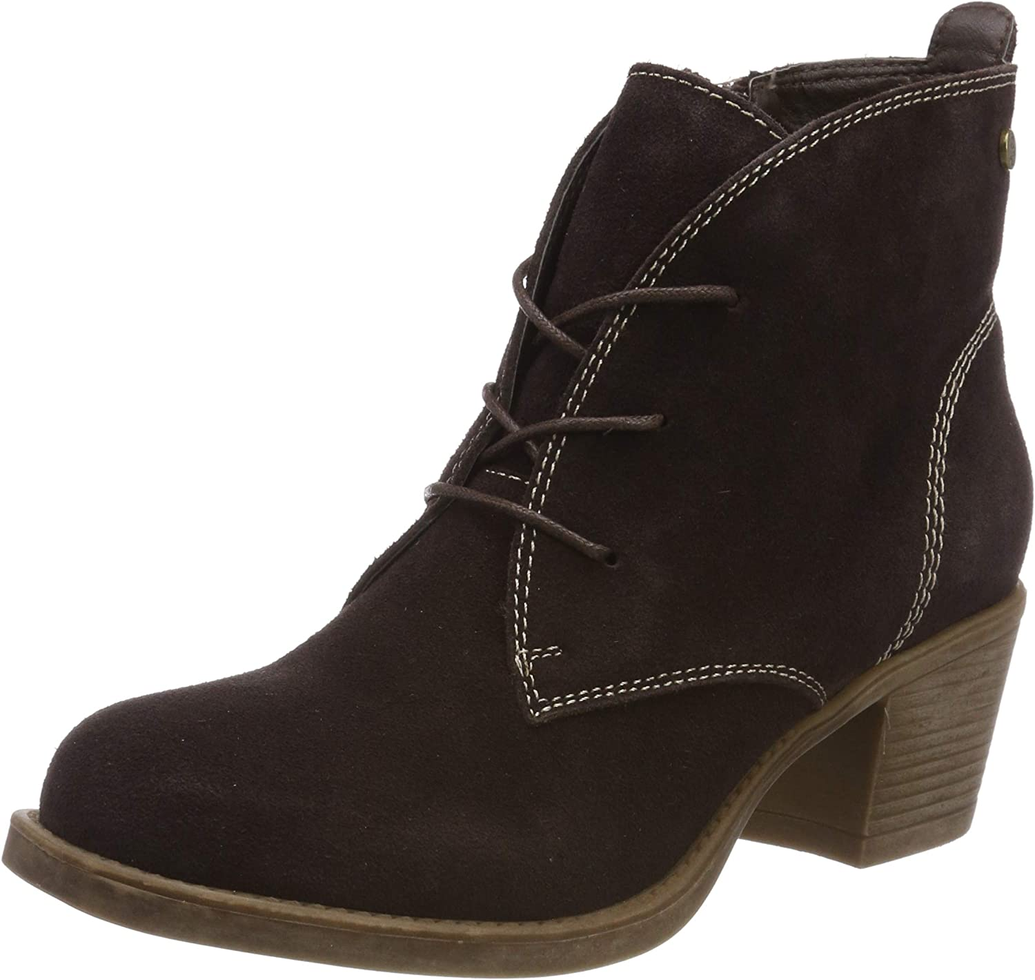 Hush Puppies Womens Moscow Laced Heel Boot Dark Brown Size UK 8 EU 42