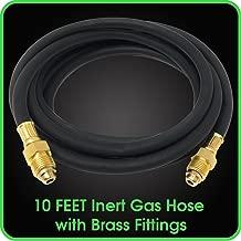 Argon Regulator Gas Hose 10 Feet Inert Double Brass Gas Fitting for Welding Application MIG/TIG -5/