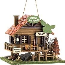 log cabin birdhouse for sale