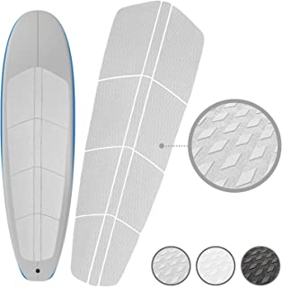 PUNT SURF Paddle Board SUP Traction Pad with 3M Adhesive - 12 Piece Customizable Deck Grip for Any Size Paddleboard. Provides Ultimate Traction and Comfort in Just Minutes. Lifetime Warranty - Guaranteed to Stick on your Paddleboard Forever
