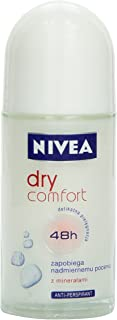 Nivea Dry Comfort Deodorant Roll-On, 1.7 Fluid Ounce (Pack of 2)
