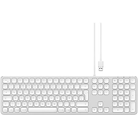 SATECHI Teclado con Cable USB de Aluminio con Keypad Numérico, Compatible con iMac - 2020 iMac, iMac Pro, 2020 Mac Mini, y más (Alemán, Plata)