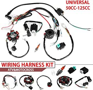 Everrich Quad Wire Harness Suitable-CDI Wire Harness Assembly Wiring Set- For 50cc 70cc 90cc 110cc 125cc Chinese ATV Electric Stator CDI Coil ATV Quad Bike Buggy Go Kart