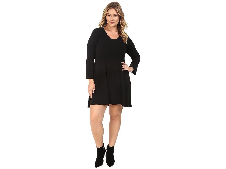 Karen Kane Plus Plus Size Taylor Dress (Black) Women
