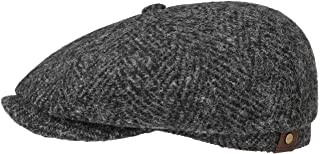 Stetson Hatteras Herringbone Flat Cap Men - Made in Germany
