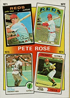 PETE ROSE COLLECTIBLE TRADING CARD - 1986 TOPPS BASEBALL CARD #4 (CINCINNATI REDS - FEATURES YEARS 1971, 1972, 1973 & 1974) FREE SHIPPING