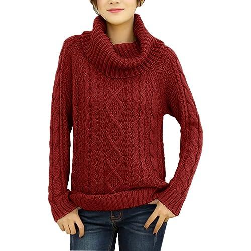 077e3a15ea v28 Women s Korean Design Turtle Cowl Neck Ribbed Cable Knit Long Sweater  Jumper