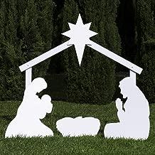 Outdoor Nativity Store Holy Family Outdoor Nativity Set (Standard, White)