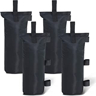 ABCCANOPY Outdoor Pop Up Canopy Tent Gazebo Weight Sand Bag Anchor Kit-4 Pack (Black-Single)