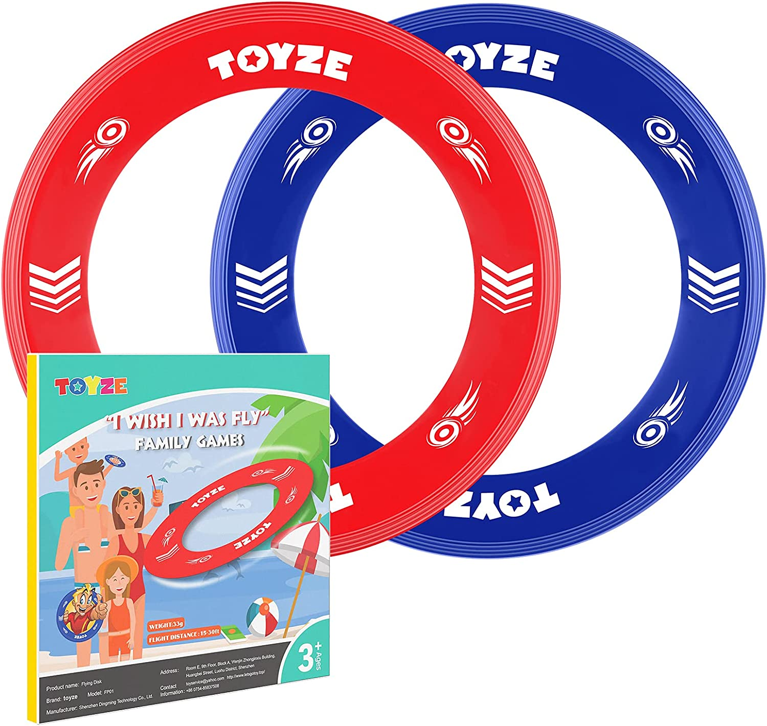 Direct store Sale price Yiblue Toyze YB Flying Disc Kids Outdoor for Games