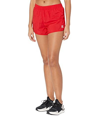 adidas Originals 3-Stripes Shorts (Scarlet) Women