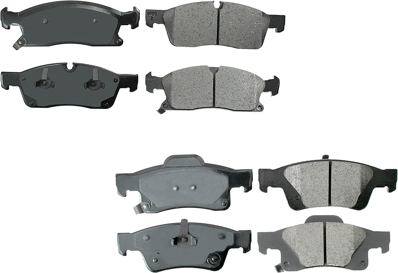 Akebono ProACT Front and shopping Rear Ceramic Sta Free shipping Kit Brake Set Pad with