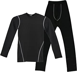 LANBAOSI Boys & Girls Fleece Lined Long John Thermal Shirts Pant 2 PCS Set