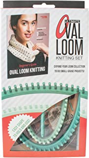 Leisure Arts - Ultimate Oval Loom Knitting Set   Pattern Book with 7 Easy to Follow Patterns   Oval Looms in 2 Sizes with Stitching Tool Included
