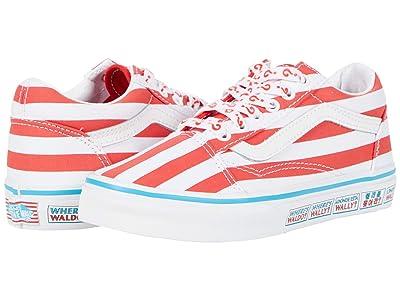Vans Kids Old Skool (Little Kid) ((Wheres Waldo?) International/Stripes) Kids Shoes