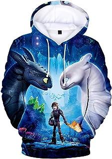 4a8867df77ab3 How to Train Your Dragon-Sweat à Capuche Hommes 3D Imprimer Pull Sweatshirt Manche  Longue