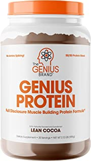Genius Protein Powder - Natural Whey Protein Isolate & Micellar Casein Lean Muscle Building Blend, Grass Fed Post Workout ...