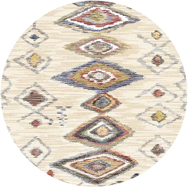 Lvdijidian Rug Area Round Nordic Modern Simple Carpet Bedroom Rug Corridor Coffee Table Bedside Mat Doormat of Decoration (Size   Diameter 80CM)