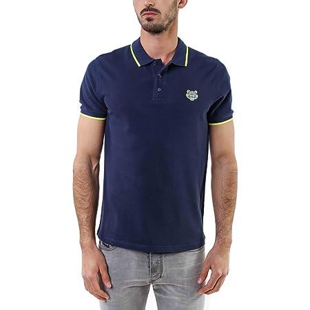 Kenzo Tiger's Head Cotton Piqué Polo Shirt - Blue - Small
