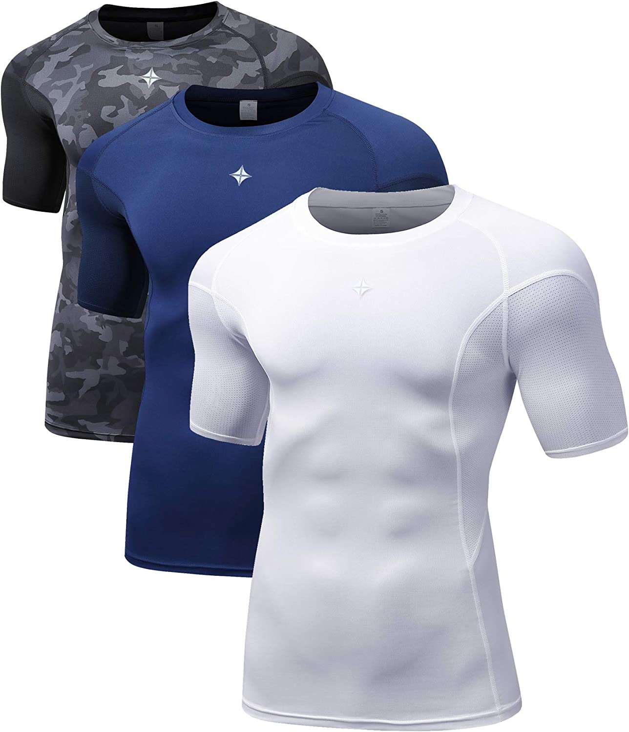 Milin Naco Minneapolis Mall Men's Short NEW before selling ☆ Sleeve Cool Dry Compression T-Shirt Base