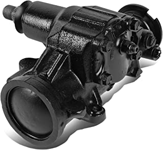 DNA Motoring LEPOW-035 Painted Black Steel Power Steering Gearbox Replacement For 1999 Dakota Durango Fits 4WD Models