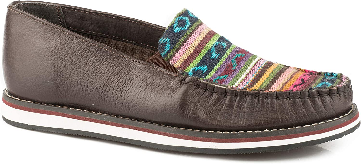 Roper Ladies Jacolin Leather Moccasin Shoes