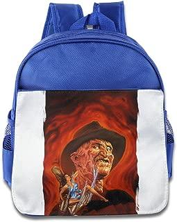 XJBD Custom Personalized Nightmare On Elm Street Freddy Krueger Pizza Children School Bagpack Bag For 1-6 Years Old RoyalBlue