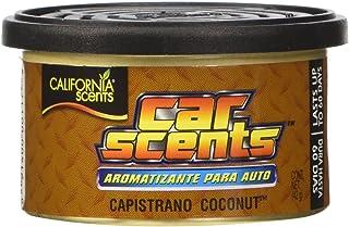 California Scents ccs 416tr Lufterfrischer, Kokosnuss Scents (Pack von 4) Langlebig Erfrischende Duft, umweltfreundlich, leichtes Bio Produkt recycelbar, verstellbare Belüftete Deckel, Tablett von 4Kanister