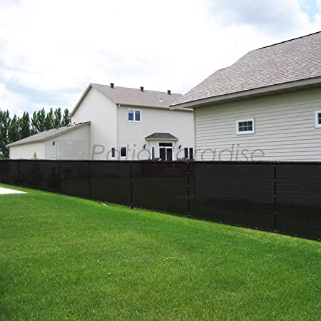 8x25 Black Fence Privacy Screen Windscreen Cover Shade Cloth Mesh ...
