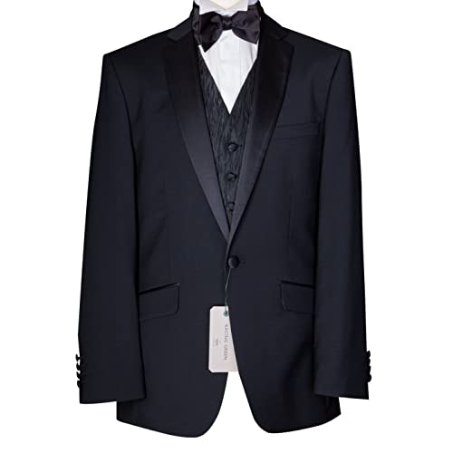 a1ae2b6bf24 Richard Paul Mens Black Tux Dinner Tuxedo Wedding Dress Suit Jacket DJ