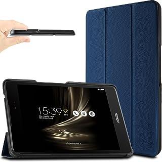 ASUS ZenPad 3 8.0 ケース Infiland ASUS ZenPad 3 8.0 Z581KL ケース 三つ折りカバー 極薄型 軽量型 スマートカバー マグネット開閉式 傷つけ防止ケース 合成皮革カバー