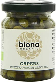 Biona Organic Capers in Extra Virgin Olive Oil, 120g