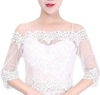 Off Shoulder Ivory Lace Jacket Bolero Wedding Jacket