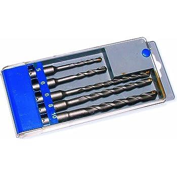 Estuche de Brocas para Pared/Hormigon SDS Plus 5, 6, 6L, 8 y 10mm. 5 Unidades: Amazon.es: Bricolaje y herramientas