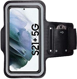 CoverKingz Sportarmband für Samsung Galaxy S21+ (Plus) 5G   Armtasche mit Schlüsselfach Galaxy S21+ (Plus) 5G   Sport Laufarmband Handy Armband Schwarz