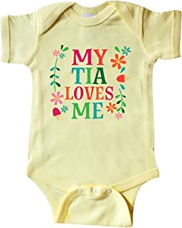 inktastic My Tia Loves Me Niece Gift Infant Creeper