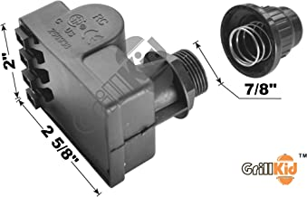 Grillkid SG04 Spark Generator Replacement for Select Gas Grill Models by Charmglow, Brinkmann and Others, 4 Male Spade Connector Outlets