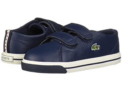 Lacoste Kids Riberac 119 2 CUI (Toddler/Little Kid) (Navy/Off-White) Kid