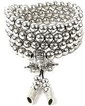 phoenix outdoor 108 Destiny Nepal Prayer Full Metal Buddism Bead Mala Necklace (full stainless steel)