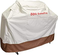 BBQ Coverpro - Waterproof Heavy Duty BBQ Grill Cover (64x24x46)(L) Beige and Brown for Weber, Holland, Jenn Air, Brinkmann and Char Broil & More.