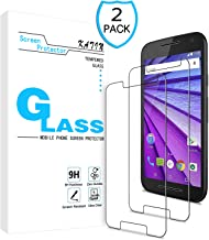 KATIN Moto G3 Screen Protector - [2-Pack] Tempered Glass for Motorola Moto G 3rd Generation 9H Hardness with Lifetime Replacement Warranty