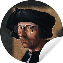 Muursticker Oude meestersKerst illustraties - Wandcirkel Oude meestersKerst illustraties - Zelfportret van oude meester Ja...