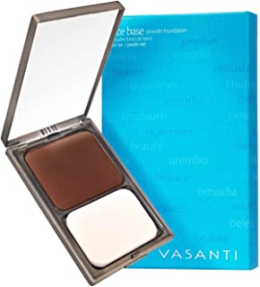 Face Base Oil-Free Powder Foundation with Mineral Pigments by VASANTI - Loose Finishing Powder - Paraben-Free, Never Teste...
