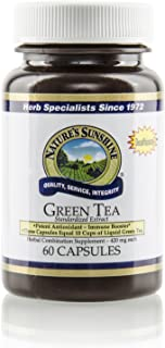 Nature's Sunshine Green Tea Extract, 60 Capsules   Supports Cholesterol Levels, Helps Maintain Already Normal Blood Flow, and Provides Antioxidant Properties