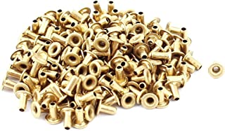 Uxcell a15091700ux0367 M1.5x3 Through Hole Rivets Hollow Grommets PCB Circuit Board Brass Plated Metal (Pack of 200)