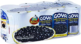 Goya Black Beans | Delicious Frijoles Negros And Healthy Food Certified Fat Free NON GMO - 15.5 Oz (Pack of 8)