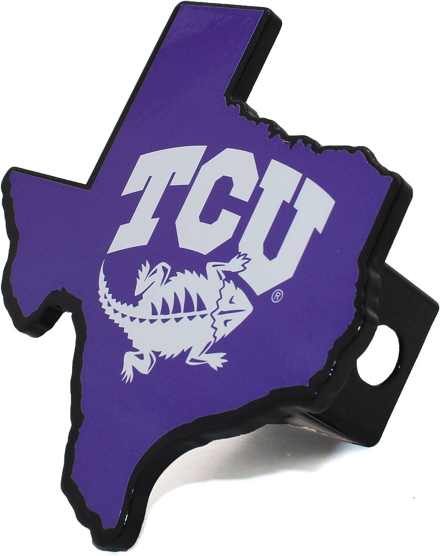 AMG NCAA Premium Solid Metal Heavy Duty Hitch Cover Texas Shaped Texas