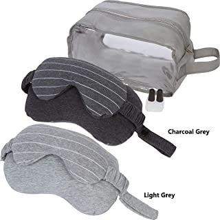 Perennial Products Travel Neck Pillow Set with Attached Sleep Mask, Storage Case and Earplugs for a Quiet and Relaxing Trip in the Car, Train, or Airplane