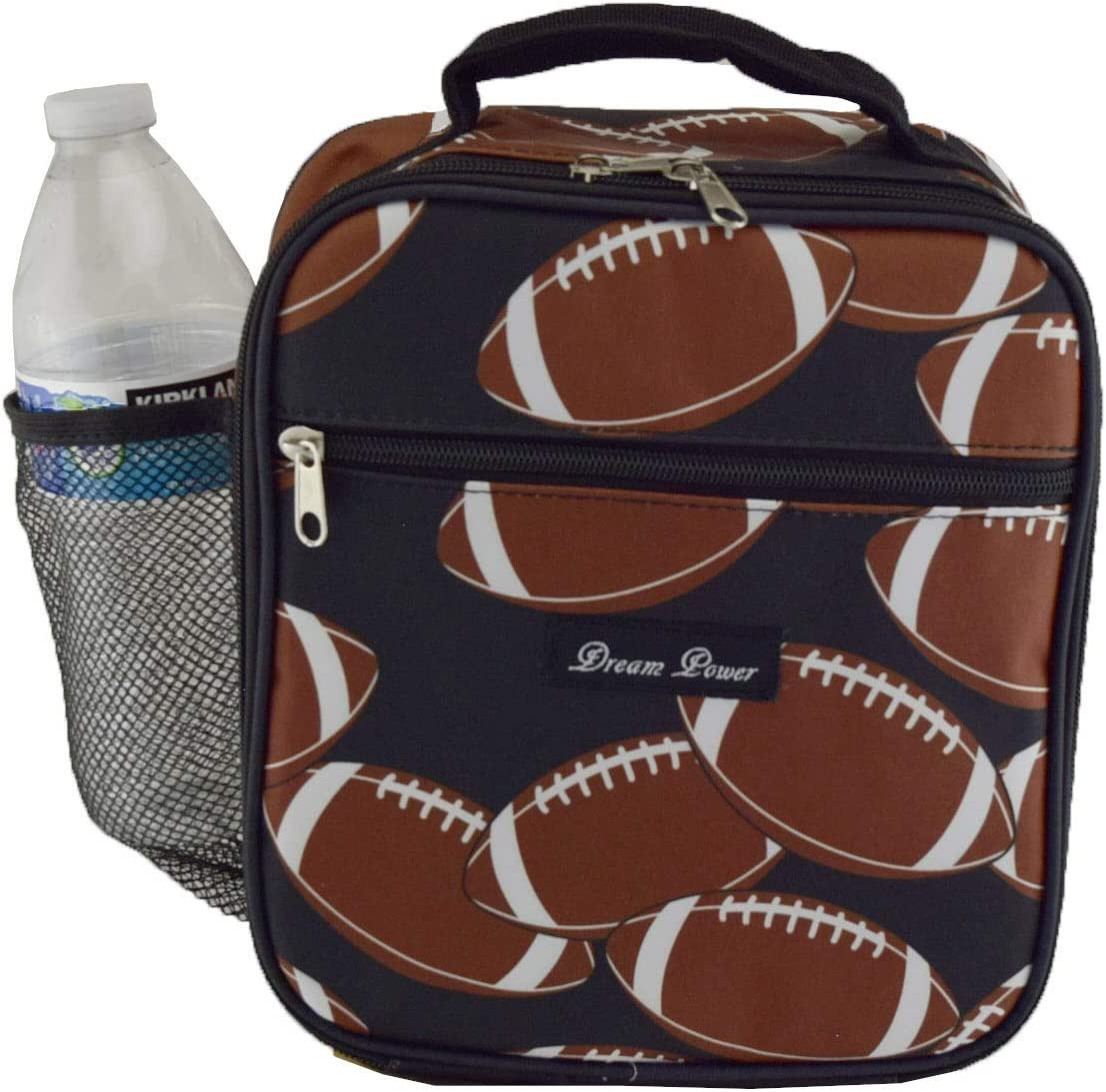 Fashion Insulate Lunch Bag Challenge the lowest price of Japan ☆ PEVA NCC17-3 Pattern Football Very popular Lining